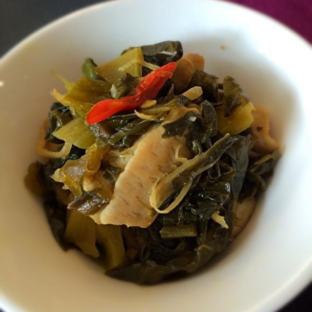 レシピとお料理がひらめくSnapDish - 6件のもぐもぐ - 酸菜炒大腸 高菜と豚もつの生姜炒め;) by aястасия
