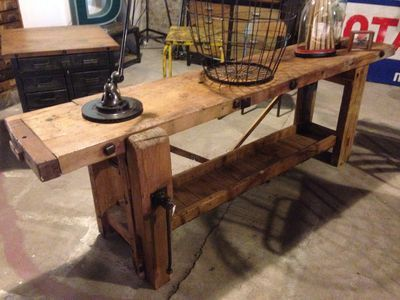 ancien établi de menuisier | idee tables | pinterest