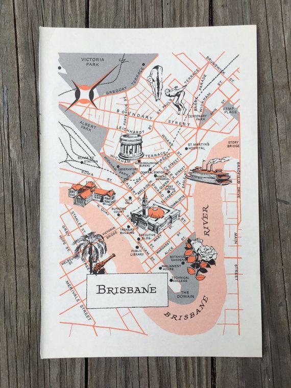 Brisbane Map Art / Australia Map Decor / City of Brisbane AUS / City ...