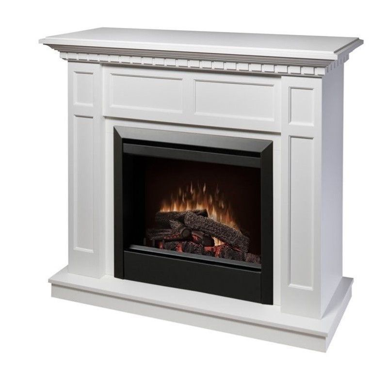 dimplex caprice free standing electric fireplace in white - Free Standing Electric Fireplace