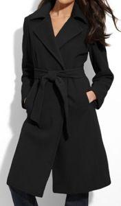Calvin Klein Wool & Angora Wrap Coat | Calvin Klein Wool & Angora ...