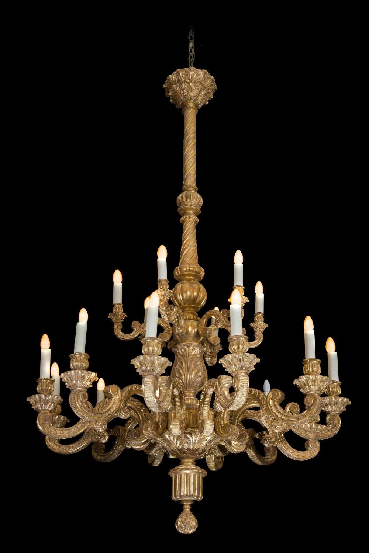 19th Century Giltwood Chandelier in 2020 Wood chandelier