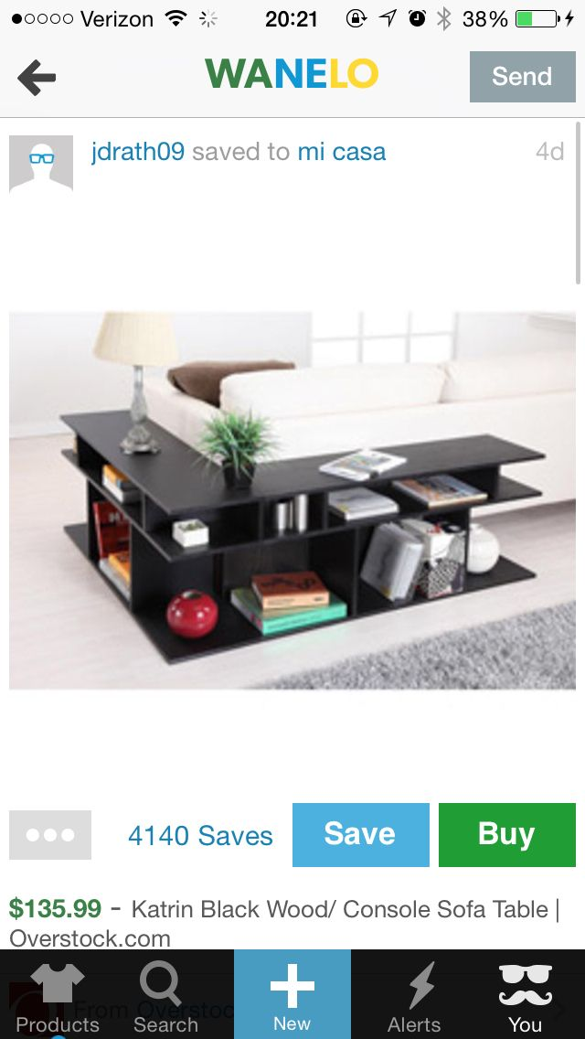 L-shape end table. Great for a sectional!