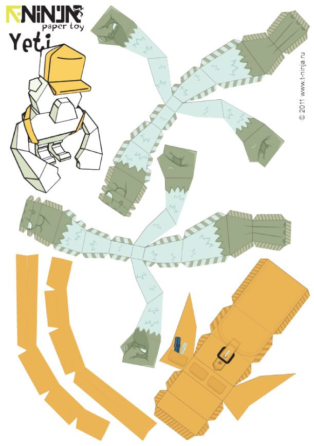Papertoy YETI de T-ninja Crew Paper toys, Toy and Craft