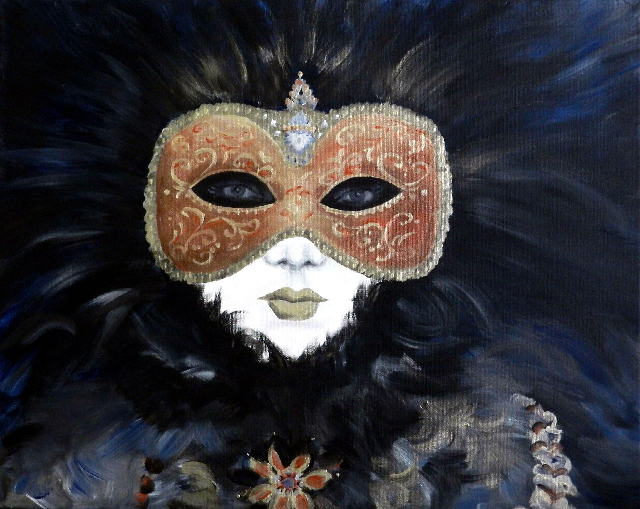 "Bellezza Veneziana, 2012  20""x16"", Acrylic on Canvas"