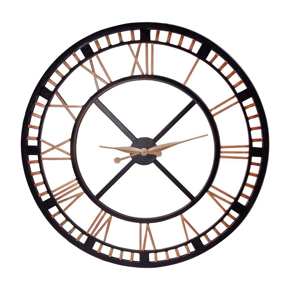 36 Home Essentials Large Wall Clock Large Iron Wall Clock