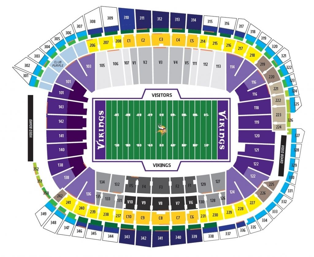 Vikings Stadium In 2020 With Images Seating Charts Vikings Stadium Chart