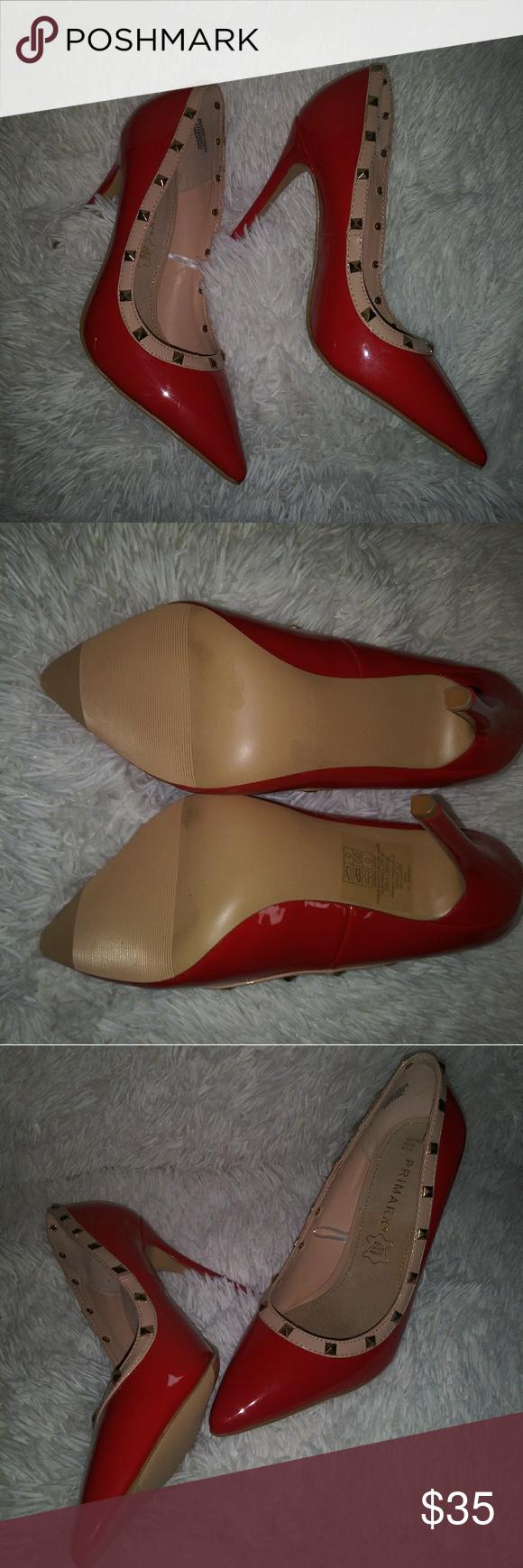 Primark Red And Tan Heels Size 8 Tan Heels Heels Primark Heels