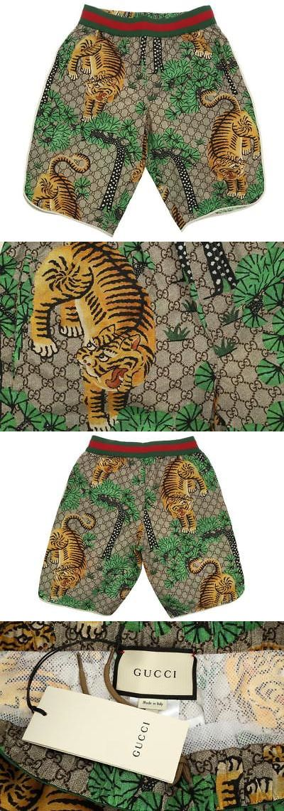 223c419e0fb53 Swimwear 15690: New Gucci Men S Current Web Tiger Print Swim Trunks Beach  Wear Shorts 46 Xs -> BUY IT NOW ONLY: $569.99 on eBay!