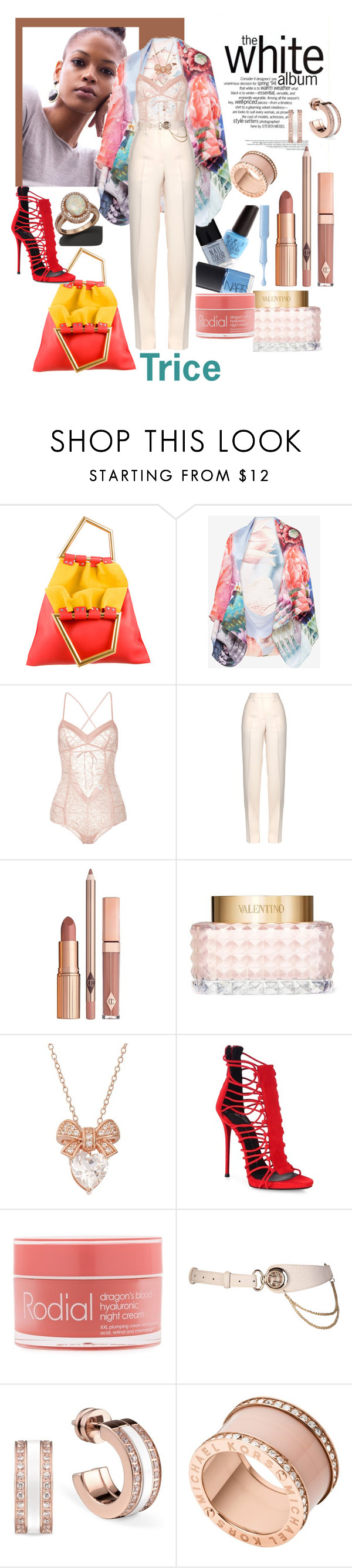 """""""Album"""" by tricewillbe ❤ liked on Polyvore featuring CÉLINE, Ted Baker, Madame Aime, Jil Sander, Dolce Vita, Valentino, Giuseppe Zanotti, Rodial, Michael Kors and Bloomingdale's"""