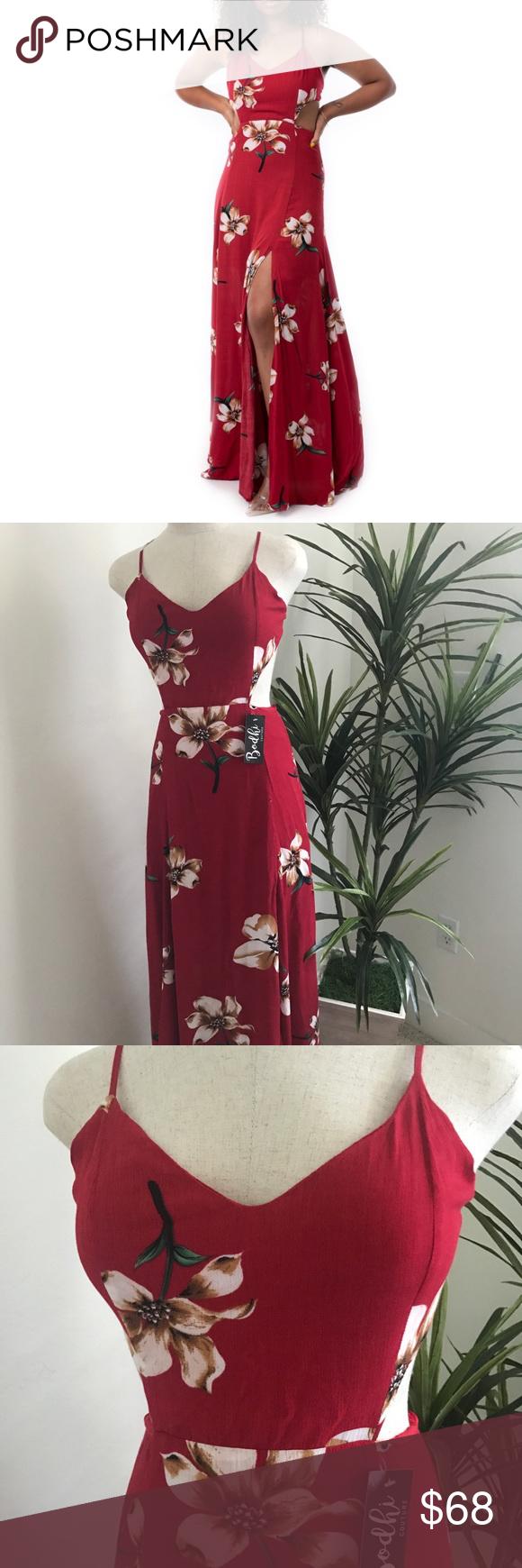 Jessica red maxi dress boutique in my posh picks pinterest