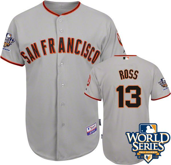 2010 World Series Champions San Francisco Giants 13 Ross Grey Jersey