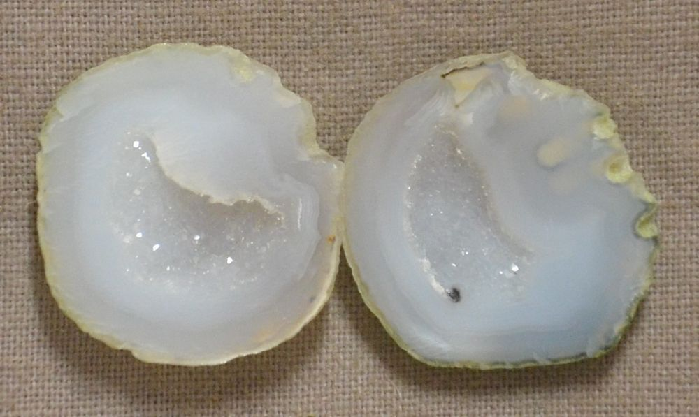 Tabasco Geode 1 Pair Cut and Polished Great for Jewelry 86428