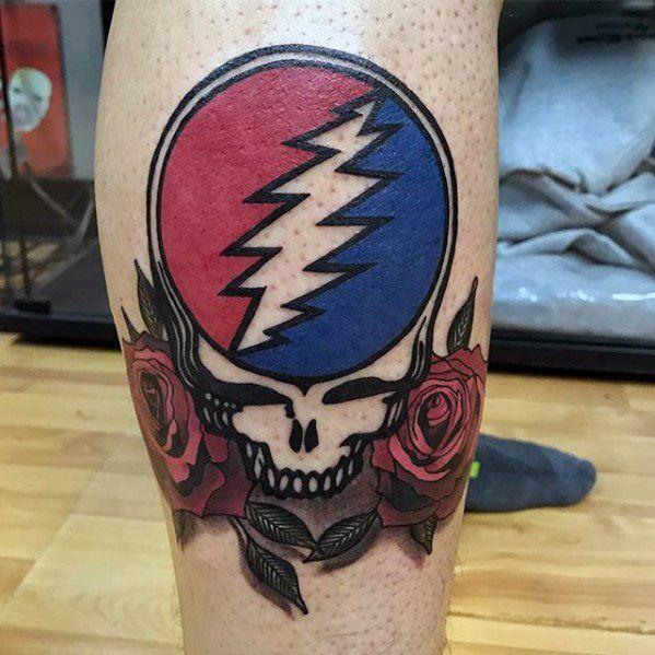 50 Grateful Dead Tattoo Designs For Men - Rock Band Ink Ideas