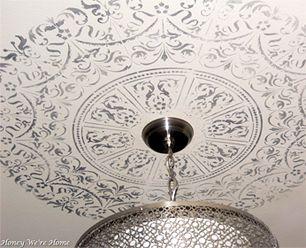 Stenciling Ceiling Medallions Diy Home Decor My Home Design