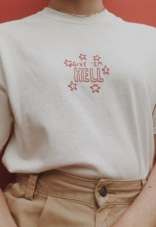 hand embroidered encouraging quote t-shirt | HemmorBroids