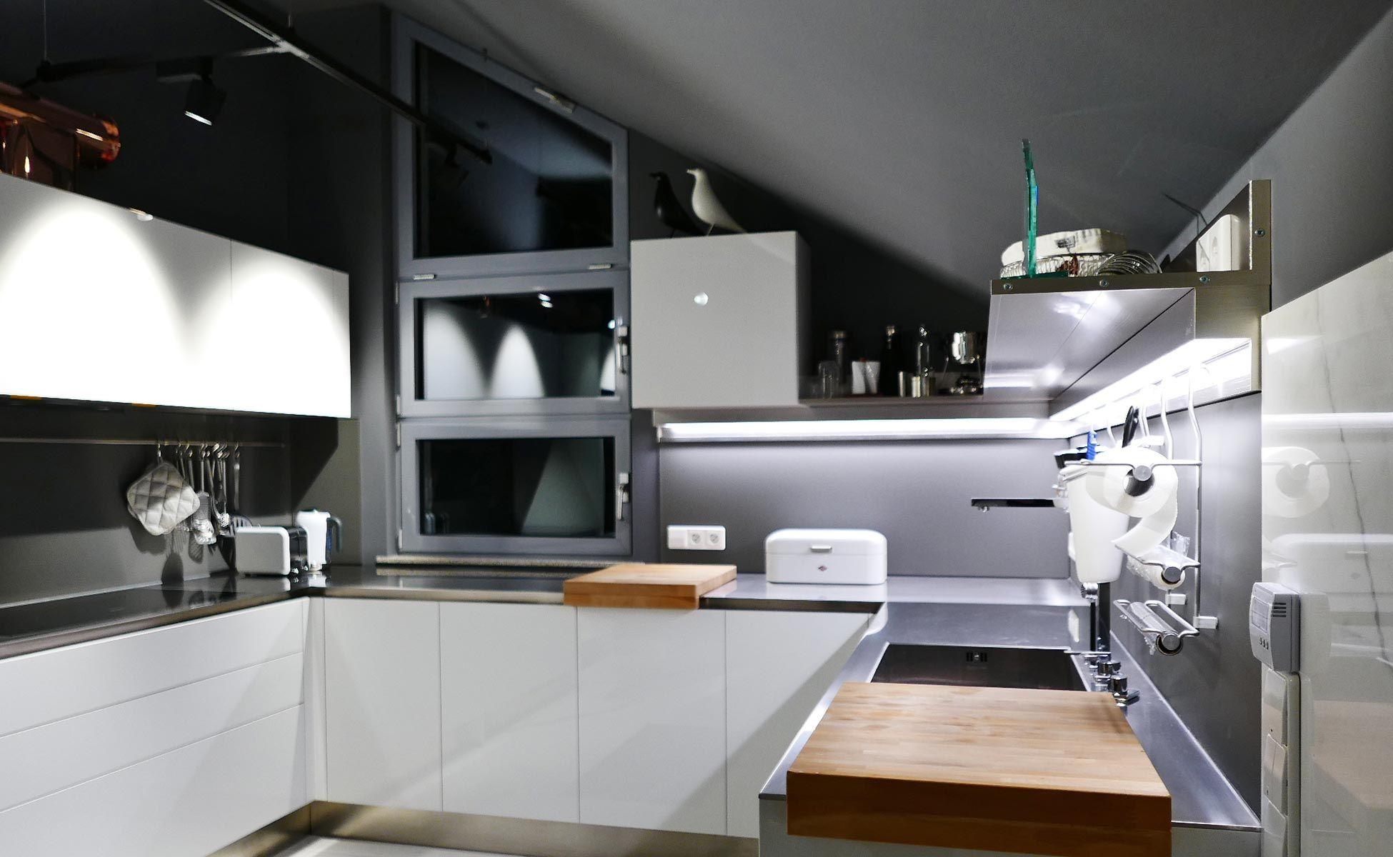 Küchenbau Berlin arclinea küchen edelstahl arbeitsfläche bei steidten in berlin