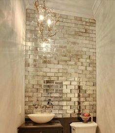 Small Baths With Big Impact Bathroom Glass Wall Antique Mirror Tiles Bathroom Wall Tile