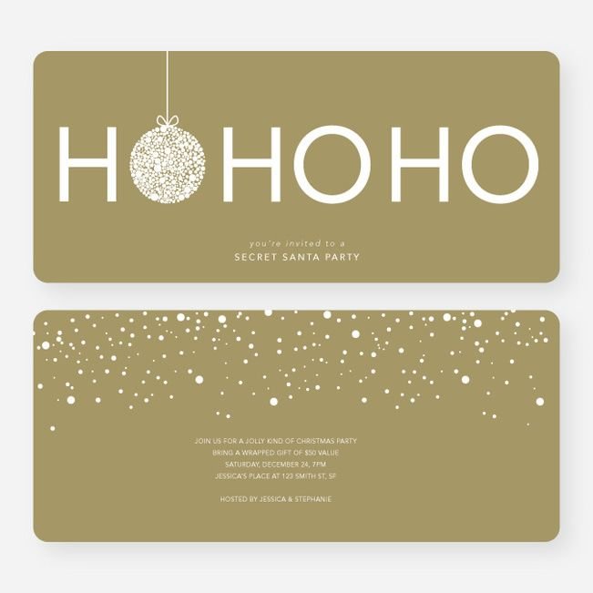 Ho Ho Ho Ornaments Cards