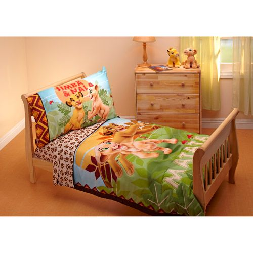 Lion King Jungle Beat 4 Piece Toddler Bedding Set Or Maybe