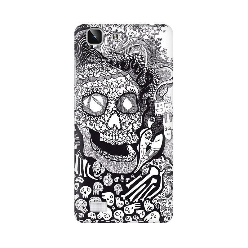 Skull Doodle Abstract Phone Case For Vivo X5
