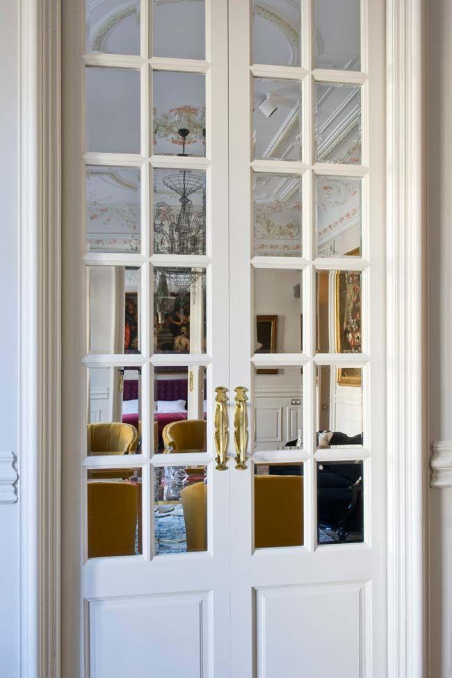 Doble puerta corredera blanca white french doors puertas - Puerta corredera doble ...