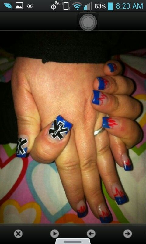 These nails #ems #emt #firstresponders #rescue #helpingpeople #cute #staroflife #savingpeople #savinglives