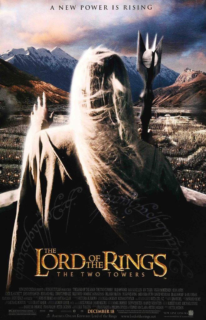 Lord Of The Rings The Two Towers 2002 In 2020 The Two Towers Lord Of The Rings Movie Posters