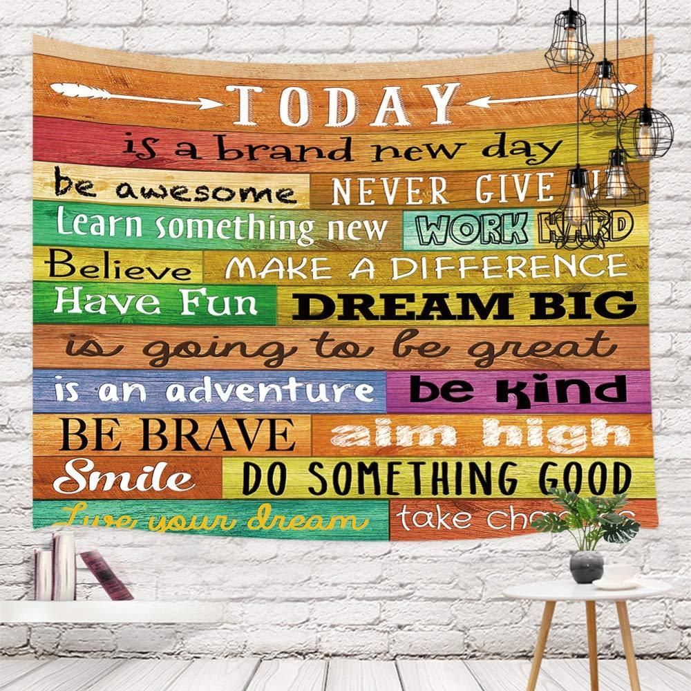 Wall of Words Motivational Quotes Tapestry - 59 in x 51 in