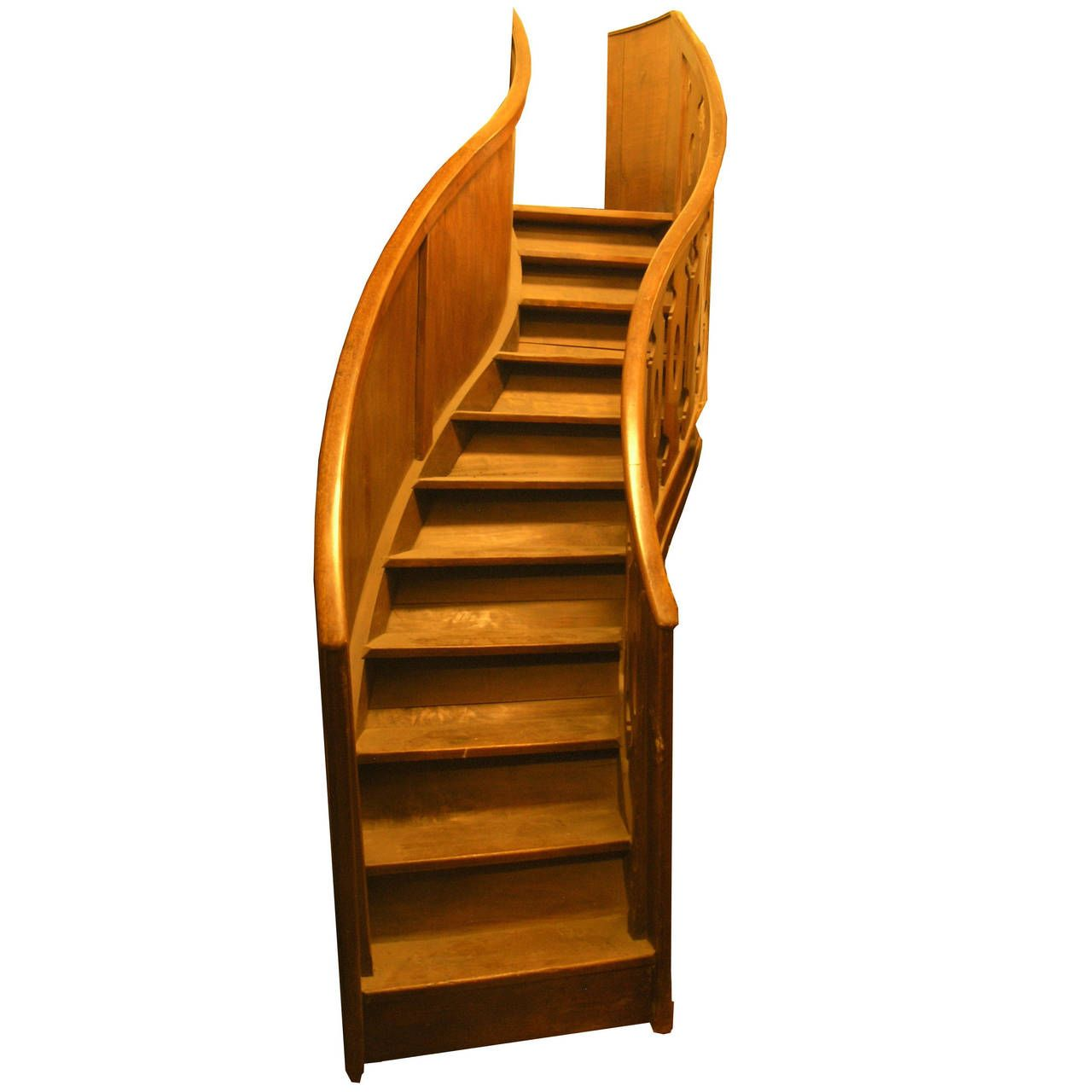 Antique Walnut Staircase   Antiques, Stairs, Modern stairs