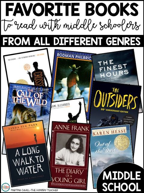 My Favorite Books to Read With Middle Schoolers in 7th and 8th Grade is part of Middle school books, Middle school reading, 8th grade reading, Middle schoolers, 6th grade reading, Homeschool middle school - I am by no means the absolute expert on the best books for certain age groups, but now that I have spent a solid amount of time in each 5th, 6th, 7th, and 8th grade as a reading and writing teacher, I definitely have my favorites for each group  If you want to read my …