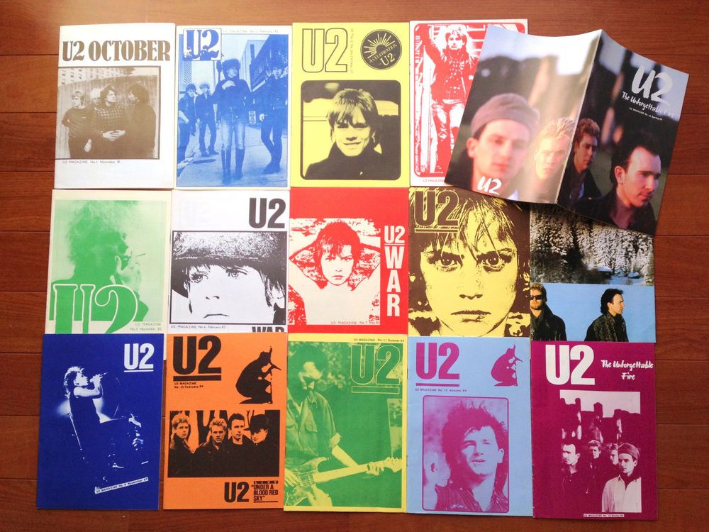 Sold Out! U2 80's Early Magazine For Fan Club Pre Propaganda