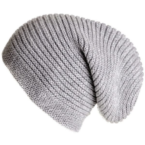 Black Light Grey Cashmere Slouch Beanie Hat ( 90) ❤ liked on Polyvore  featuring men s fashion 9f16351ae877