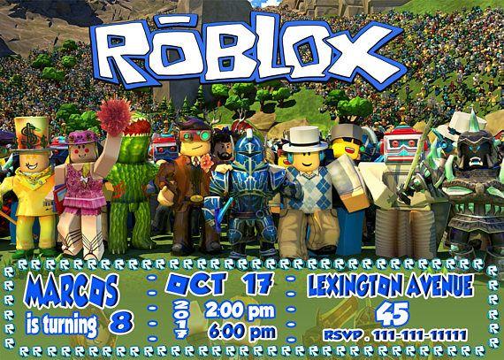 Roblox Invitation Roblox Birthday Invitation Roblox Birthday