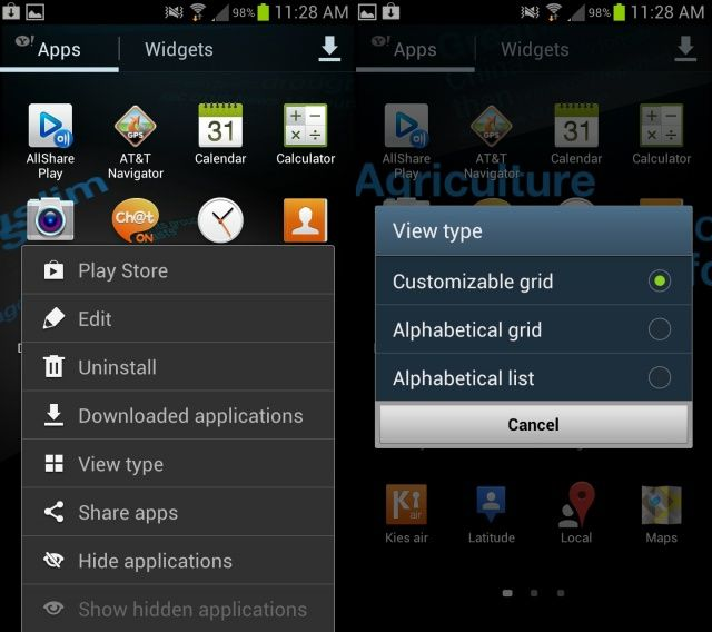 Samsung Galaxy S III Tip How To Customize Your App Drawer