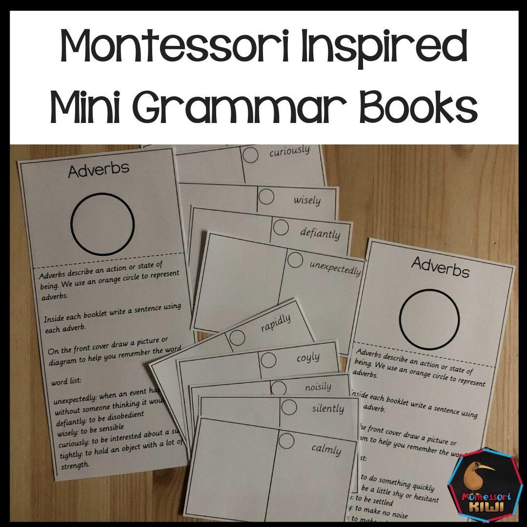 Montessori Inspired Mini Grammar Books Distancelearning