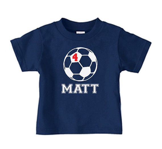 fbd499b3a66 Personalized soccer t shirt soccer birthday tee by PricelessKids, $16.99