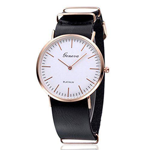 Platinum watch , Women Watch thongs Model GN-ฺLight Black