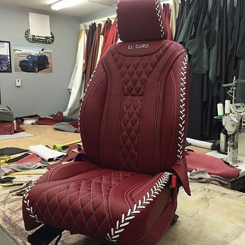 Car Auto Seats Diamond Stitch Pattern Baseball Custom Leather Auto Addiction Interiors