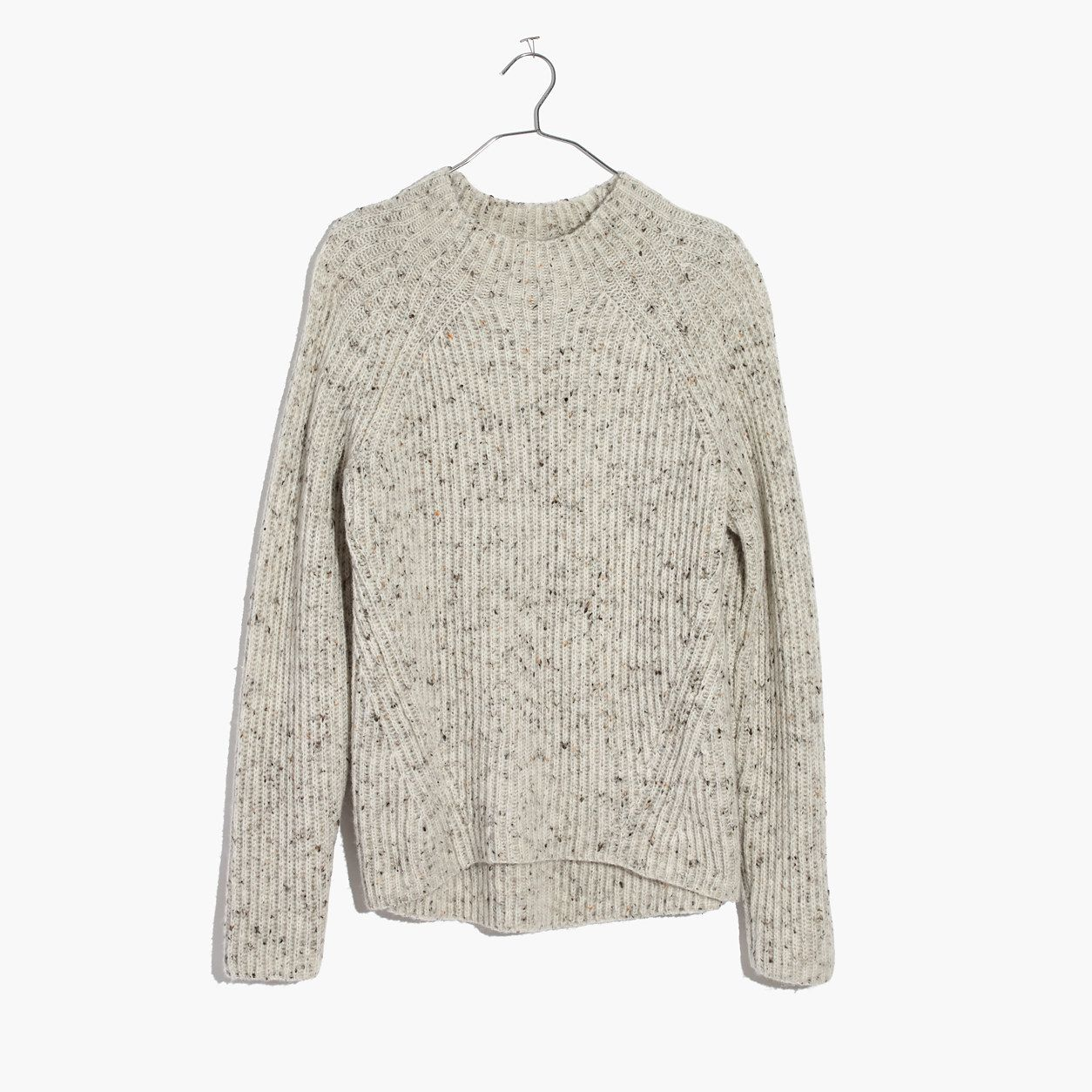 bcb05a562e8 Madewell Donegal Northfield Mockneck Sweater