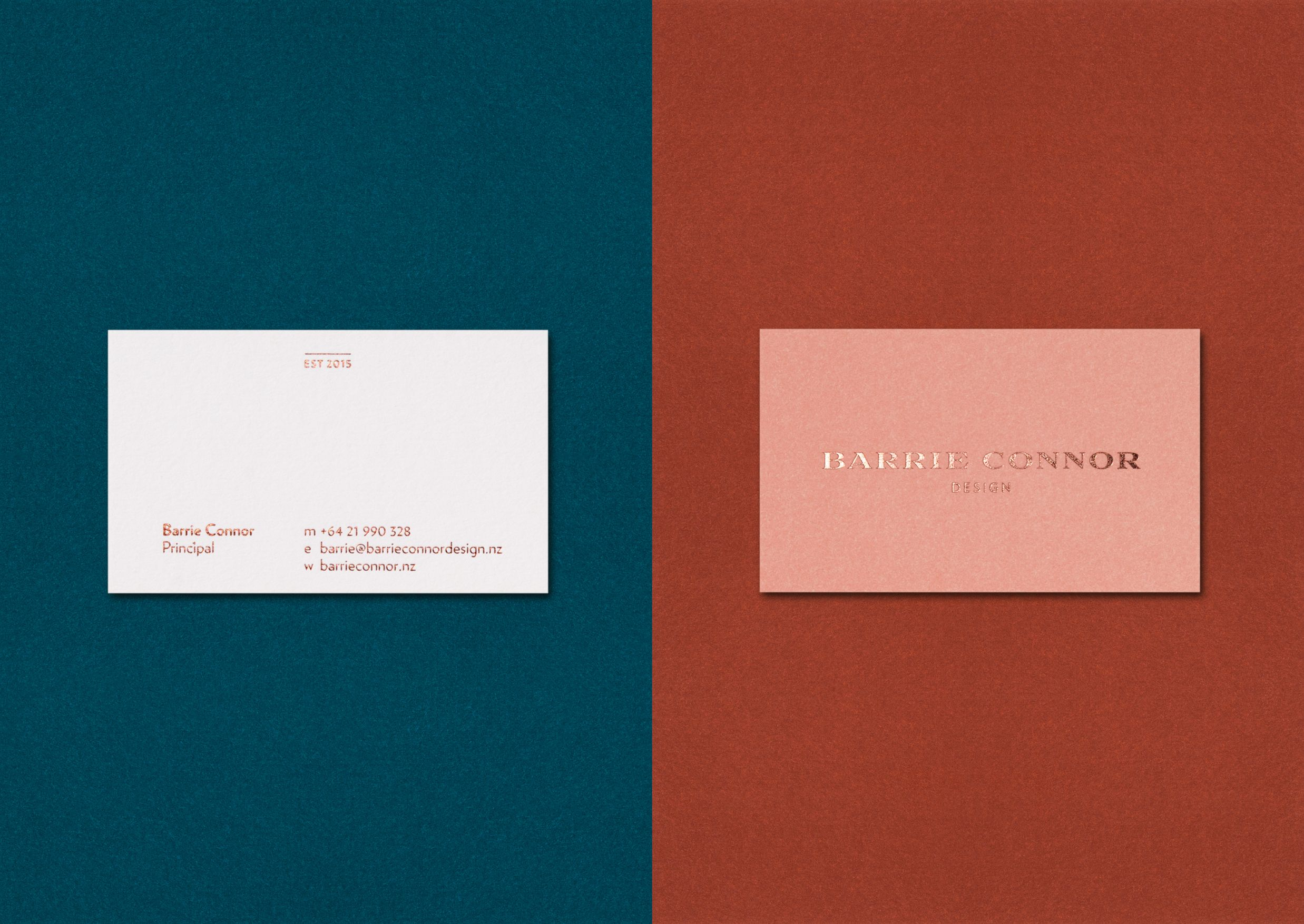 Business cards for Barrie Connor Design – a boutique interior design ...