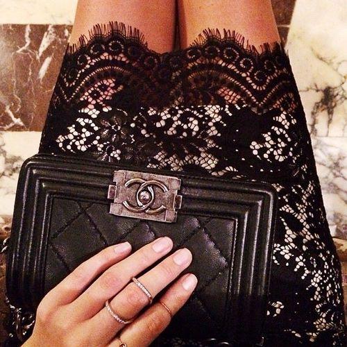 #lace#Chanel boy#