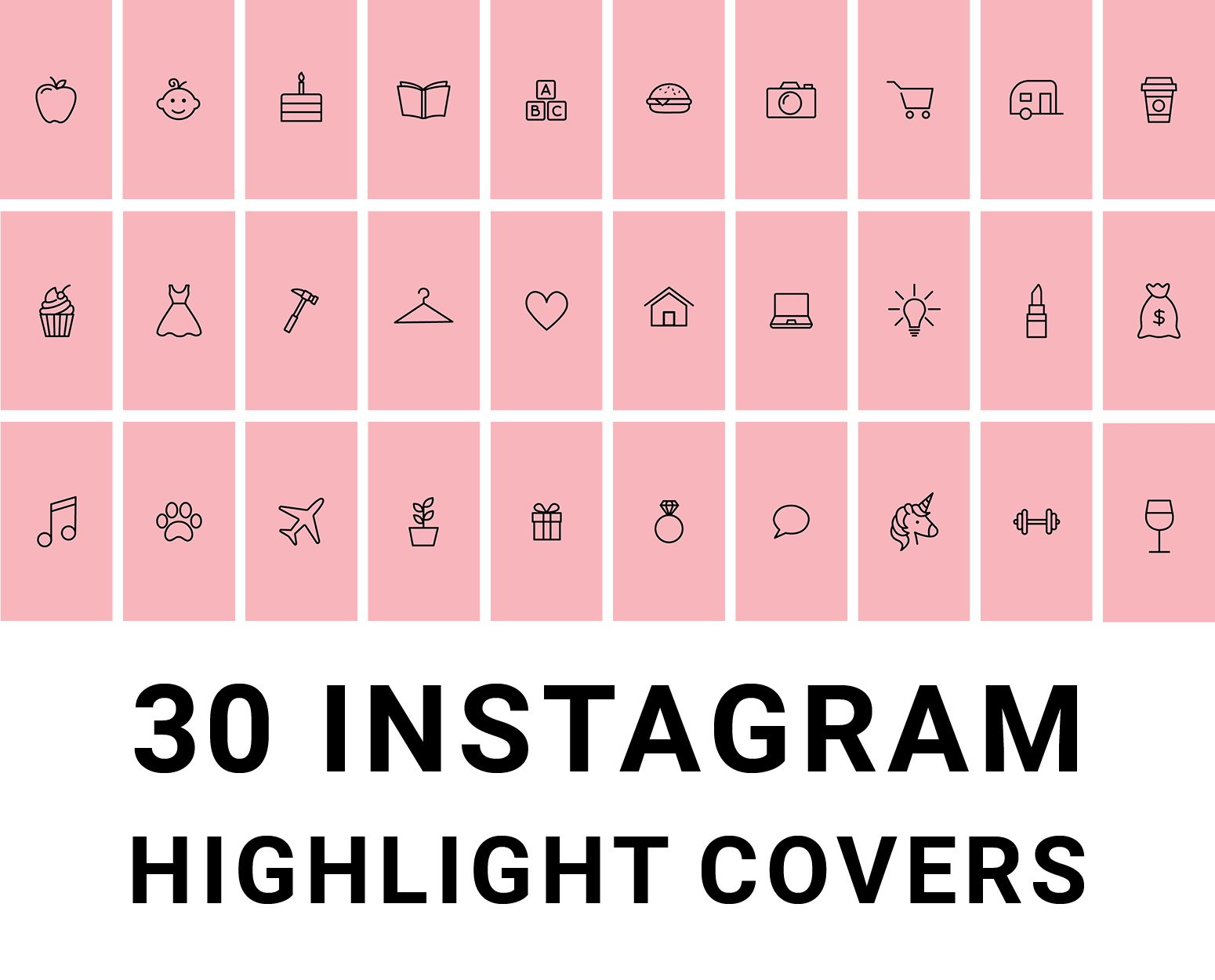 Blush Pastel Pink And Black Instagram Highlights Icon Covers