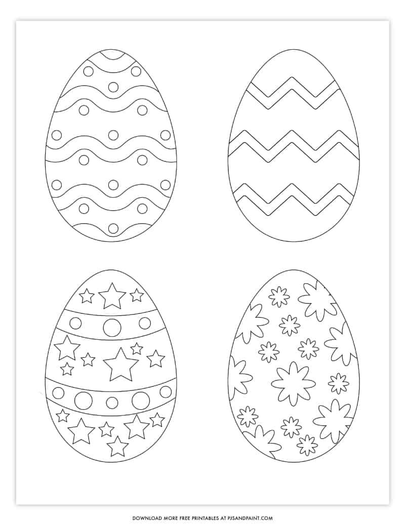 Free Printable Easter Egg Coloring Pages Easter Egg Template Easter Egg Coloring Pages Easter Egg Template Easter Printables Free