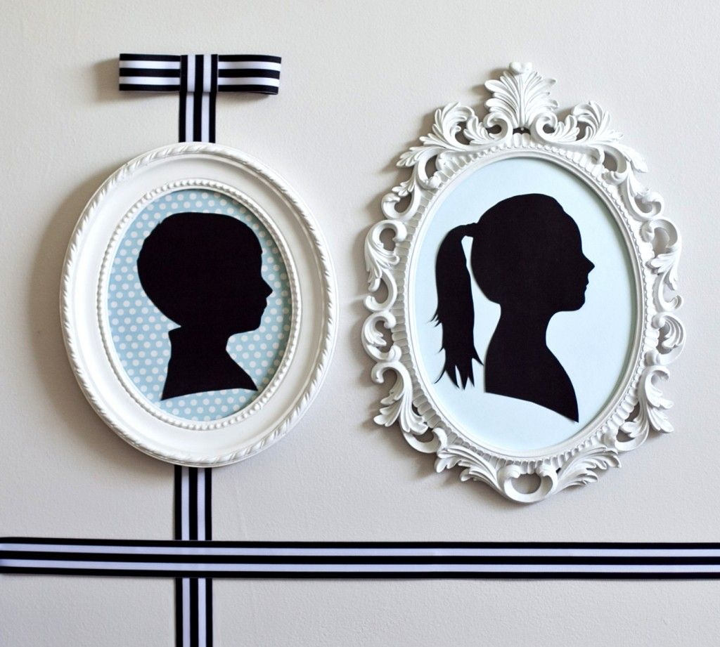 DIY Silhouettes - Such a great accent for any kid's room! #kidsroom