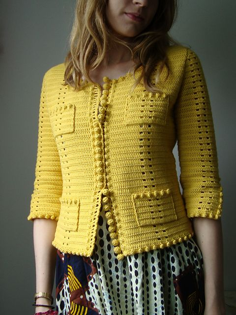 Knitting Pattern Chanel Style Jacket : phildar design on ravelry. very chanel. gorgeous crochet work. CROCHET Pi...