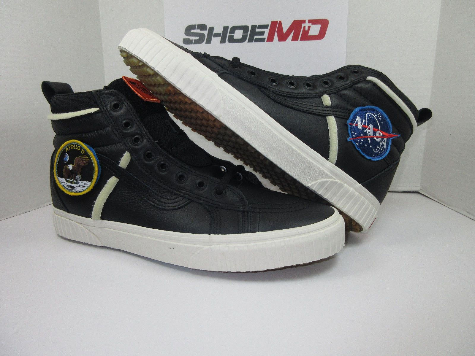 Vans Black Space Voyager Nasa Sneakers Sk8 hi 46 In Leather With Patch Apollo 11 for men