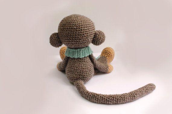 PATTERN : Monkey  Amigurumi Monkey-pattern  Crochet