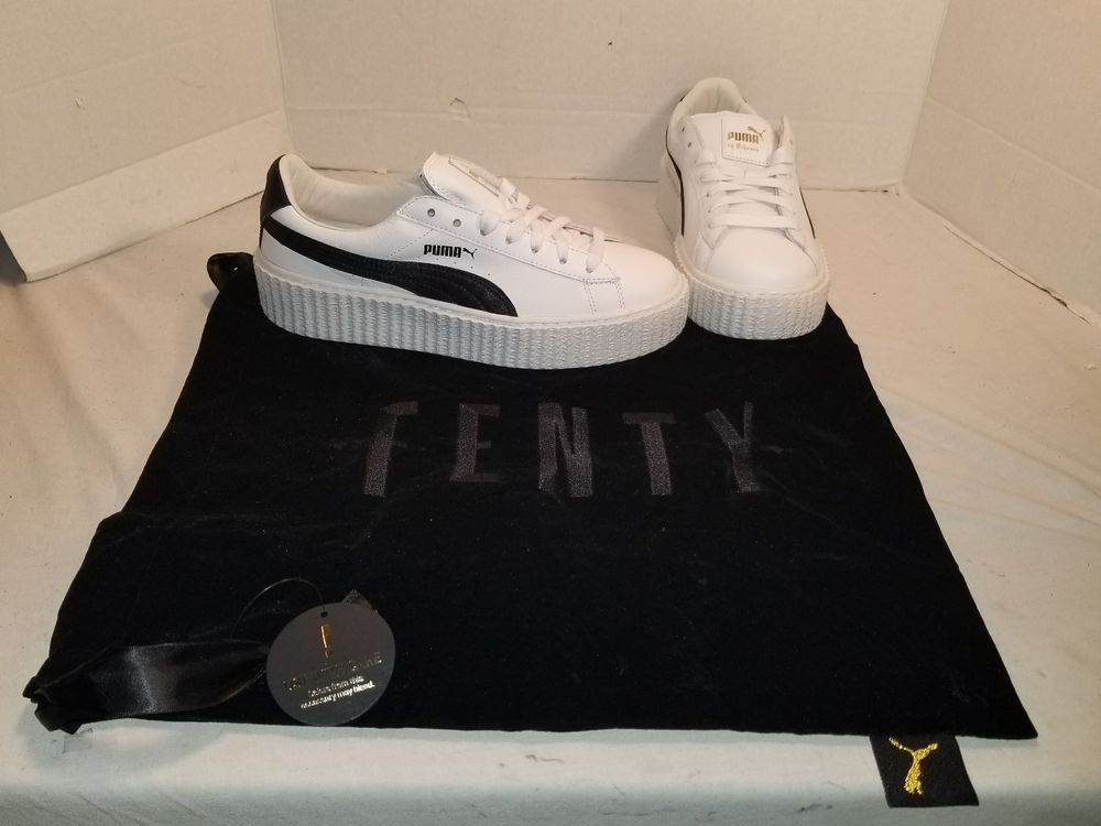 save off 99d32 bd5db NEW PUMA FENTY BY RIHANNA CREEPER WHITE & BLACK SNEAKERS ...