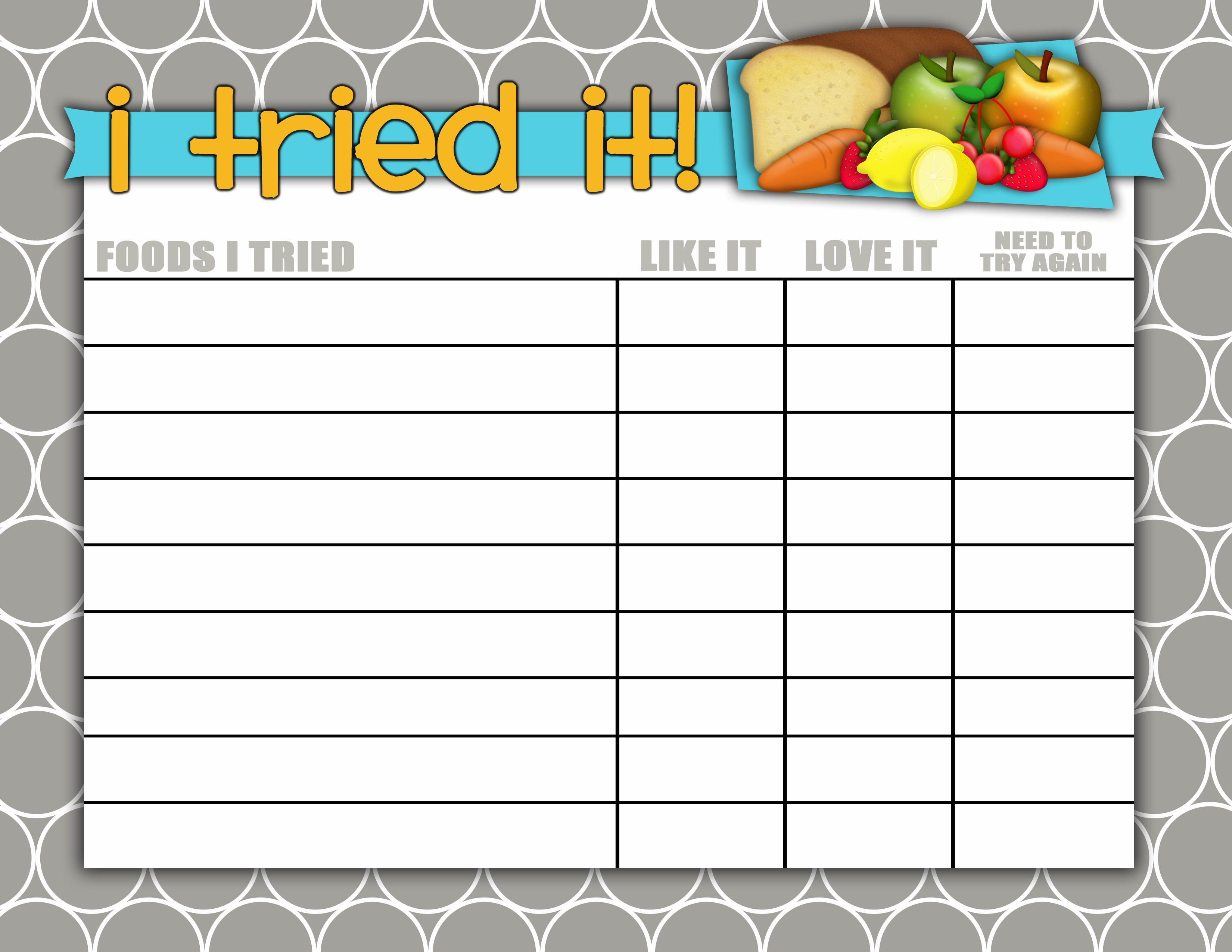 Bedtime Reward Chart when a Child Wont Stay in Bed – Blank Reward Chart